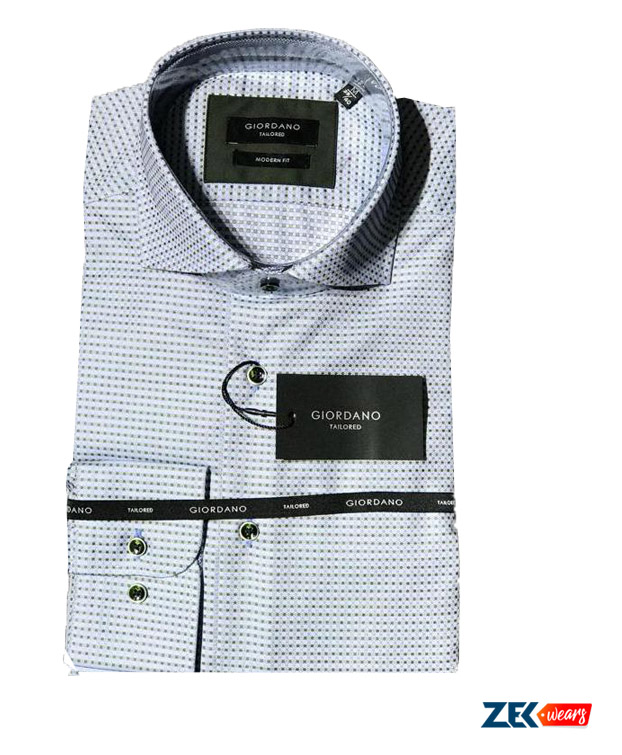Giordano Tailor Fit Dotted Shirt